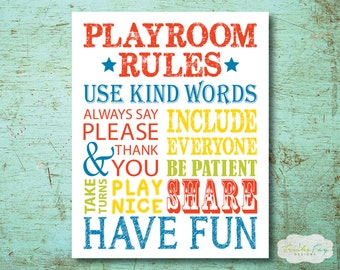 Playroom Wall Decor playroom wall art | etsy