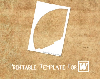 MICROSOFT WORD Compatible Printable Template: Party Hat- DIY Your Own Party Printables
