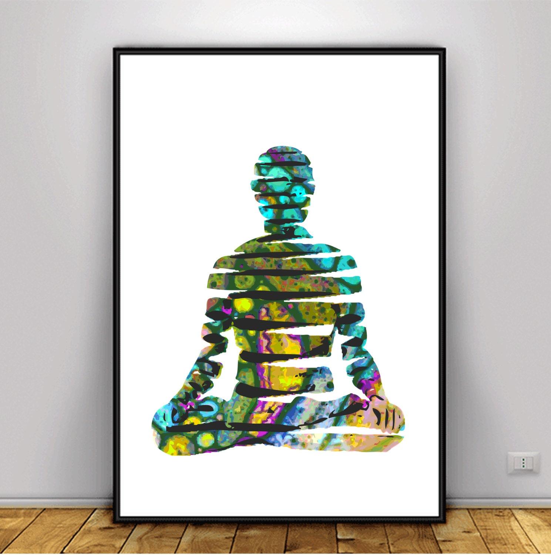 Buddha Art psychedelic Art Meditation Art DIGITAL ART