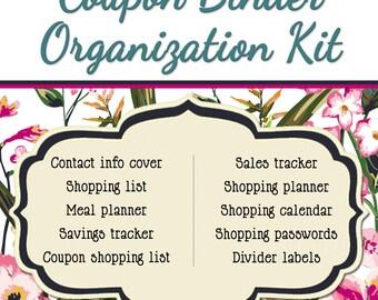 Coupon Binder Organization Kit - Not Your Grandma's Floral