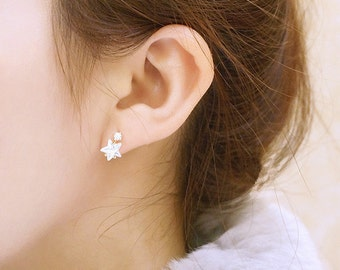 MOMODA crystal star earrings