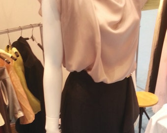 Casual Loose Layering Silk Satin Blouse / SS001