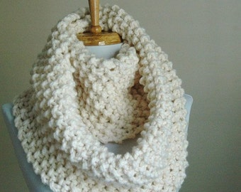 Hand Crochet Chunky Infinity Scarf, You Pick the Color!