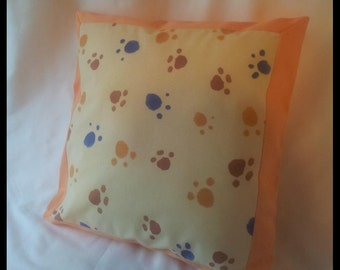 Decorative paws cushion cover / animal lovers / dog lovers / children room / nursery room / baby gift / birthday / baptism / play room /