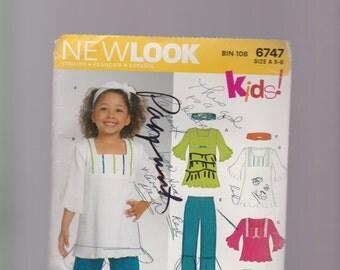 Girl's pants skirt dress pattern in sizes 3-8