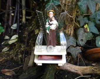 Unique Saint Anthony of Padua vintage statue