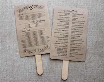Custom Wedding Fan Program