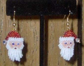 Santa earrings - Beading Pattern