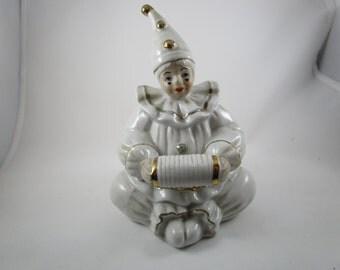 Porcelain Clown, Monti Piero, Clown with Accordian