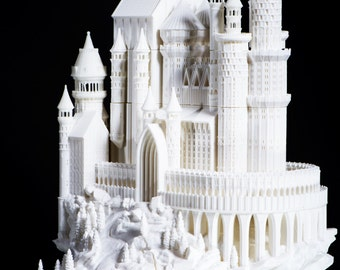 3D Printed Medieval Castle, Father's Day Gift, Castle, Medieval, home decor