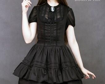 gothic lolita dress black victorian frills