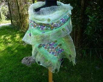Felted scarf/shawl-Felted scarf/wrap