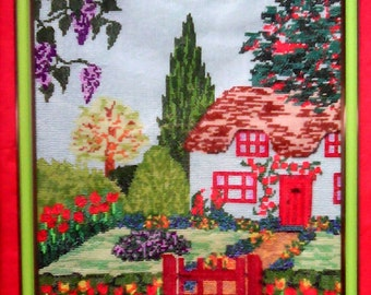 """Embroidered picture """"Sweet home"""""""