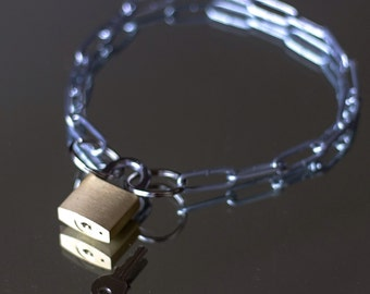 Padlock Necklace/ Collar
