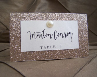 Sparkle Elegance Wedding Reception Placecard