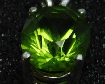 8x10 oval cut peridot pendant