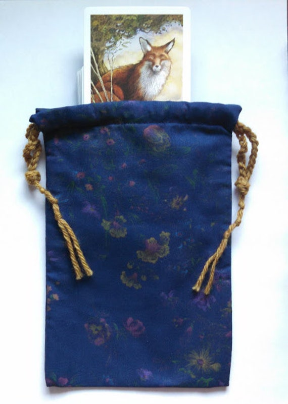 Tarot Bags Tarot Cards Cloths More: Tarot Bag Vintage Reproduction Fabric Cotton Drawstring