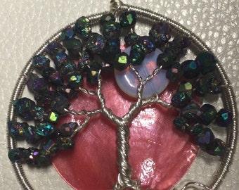 Citrine Stone Tree of Life Pendant