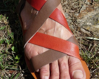 Sandals leather handmade