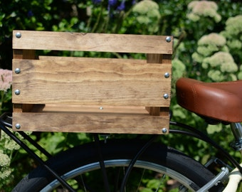 Handmade Wooden Bicycle Crate