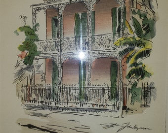 Pen & Ink Sketch of an old New Orleans residence
