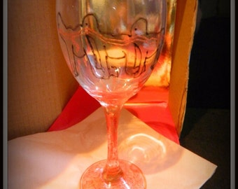 The Human Centipede Horror diagram painted wine glass gift boxed