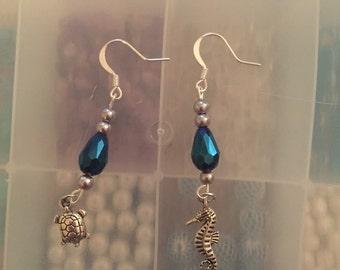 Sea Creature Water Droplet Earrings