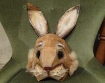 Printable Mask, DIY Halloween mask, Paper animal mask, Rabbit mask, bunny mask, Instant Download