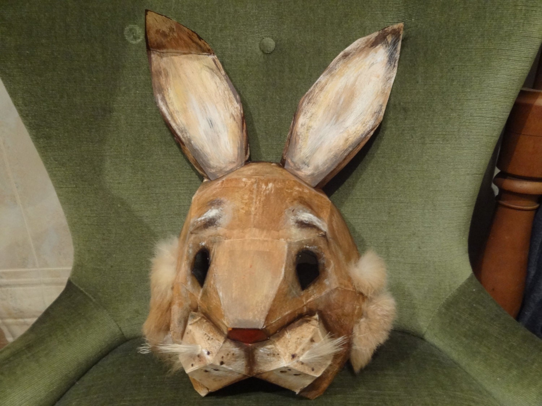 Printable Mask DIY Halloween mask Paper animal mask Rabbit