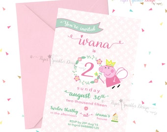 Piggy Cartoon Invitation ~ Birthday Party