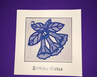 Bluebell Embroidered Birthday Card