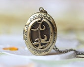 antique bronze THE MORTAL INSTRUMENTS Parabatai Rune locket necklace Christmas gifts L22