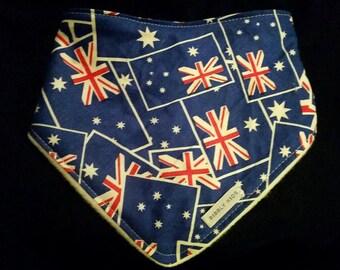 Australian Flag Dribble/Bandana Bib