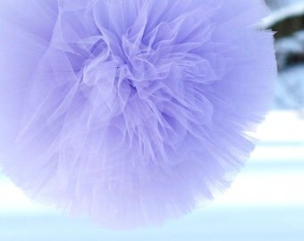 Lavender tulle pompom / wedding party decorations pom poms
