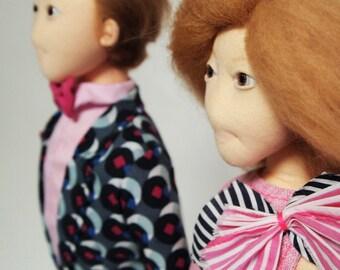 Art Doll, ooak doll, fabric doll, Rag Doll, textile doll,handmade doll, Cloth doll,home decor, collectible doll, decorative doll, lazyncrazy
