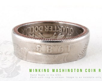 COIN RING - 1989 - Handmade in the USA - All Sizes Available