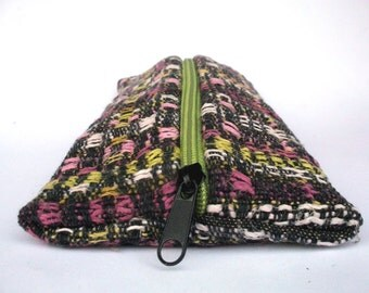 handwoven pencil cases, autumn rose, pouch, pen case, loafers, black stained, cottage garden