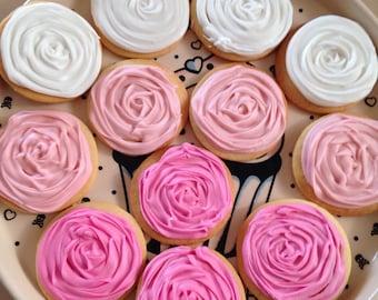 Ombré rose cookies!