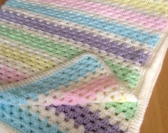 Pretty Granny Stripe Blanket
