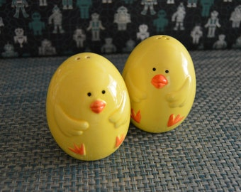 Yellow Chicks Salt and Pepper Shakers
