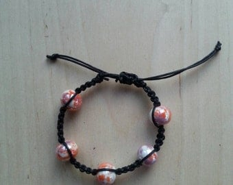 Pink and White Bracelet