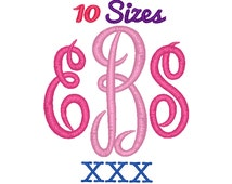 Master Circle Monogram Embroidery Font Machine Embroidery Fonts XXX Format File Pack Set 10 Sizes Digital Design Instant Download