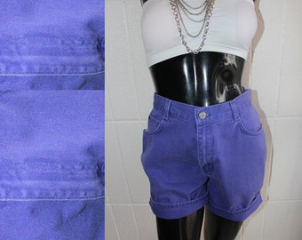 Vintage Purple Denim High Waisted Shorts