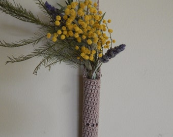 Crochet Test Tube Hanging Vase