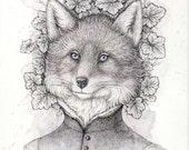 Original Drawing Fine Art «Fox»