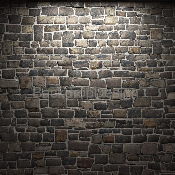 Vintage Stone Walls : Vintage stone backdrop old wall brick printed