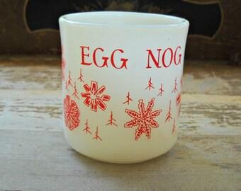 Fire King Milk Glass Egg Nog Mug, Vintage 1960's