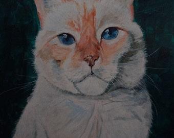 Custom Pet Portrait in Acrylic