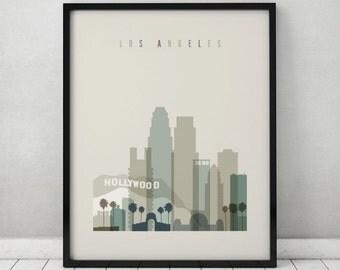 Los Angeles print, Poster, Wall art, Los Angeles California skyline, City poster Typography art, Home Decor, Digital Print, ArtPrintsVicky.