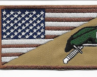 Green Beret US Army Afghanistan Iraq Special Forces Beret Desert Subdued Patch
